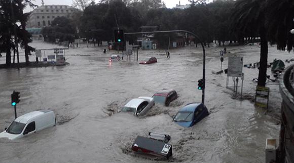 L'alluvione a Genova