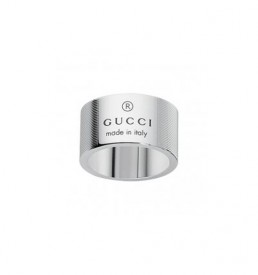 Gucci anello argento Trademark Stripes